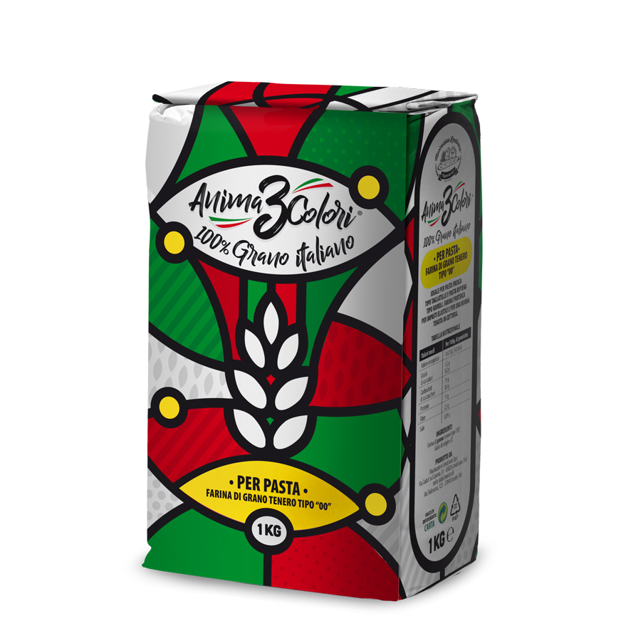 Anima 3Colori 100% Italian wheat flour for pasta 1kg