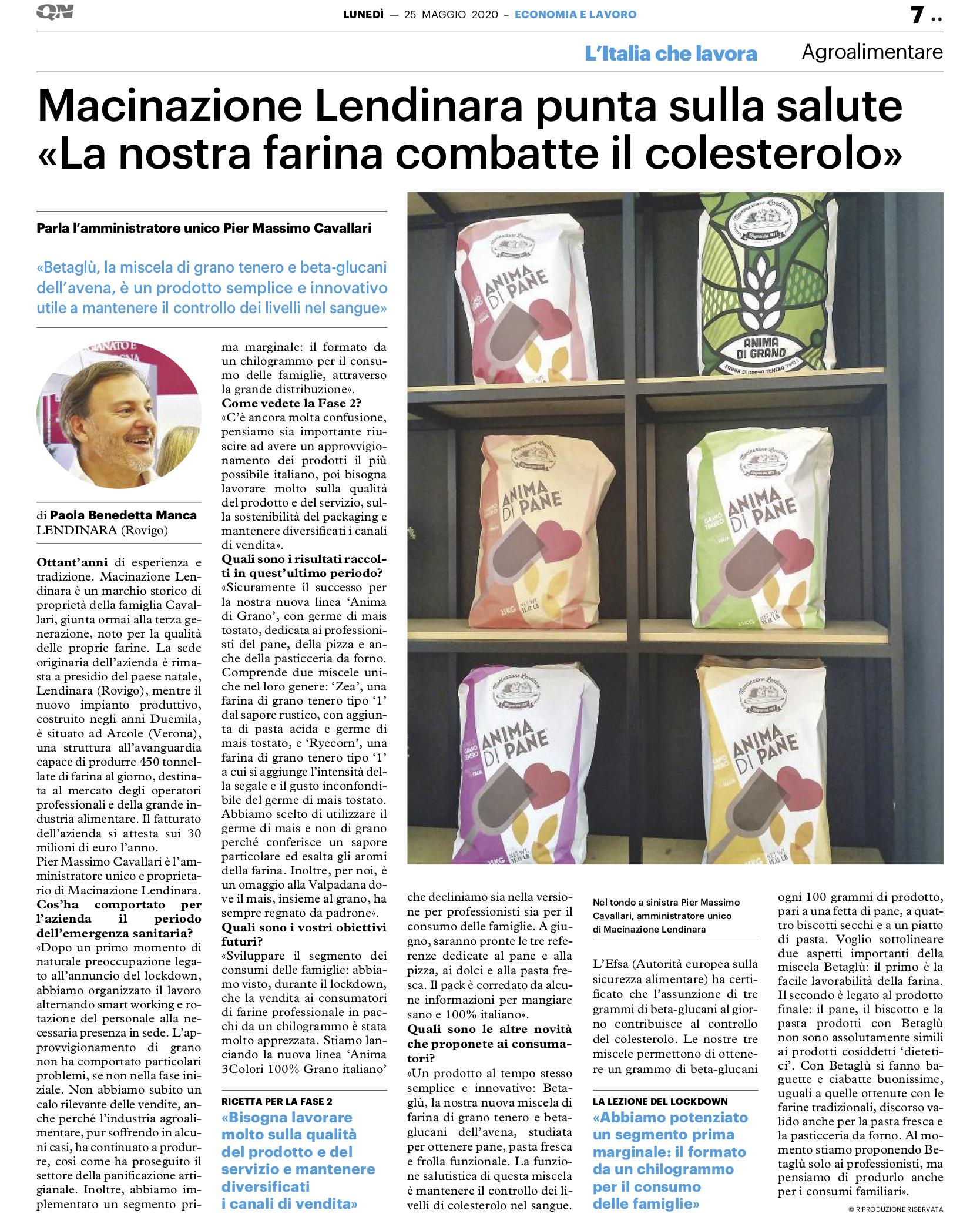 articolo L'Italia che lavora