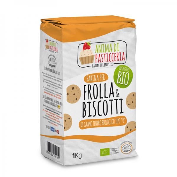 Anima di Pasticceria Farina per frolla e biscotti da 1kg Bio